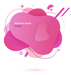 abstract liquid design color supstance and drops vector image