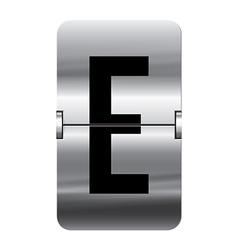 Alphabet silver flipboard letters e vector image