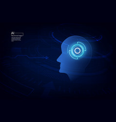 artificial intelligence ai digital technology vector image