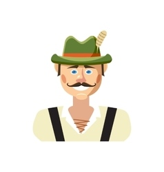 Bavarian man icon cartoon style vector image