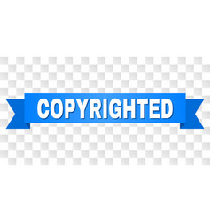 Blue stripe with copyrighted caption vector