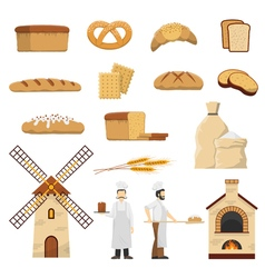 Bread Bakery Set vector
