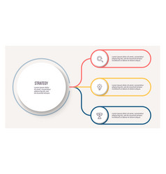 business infographic circular chart with 3 vector image