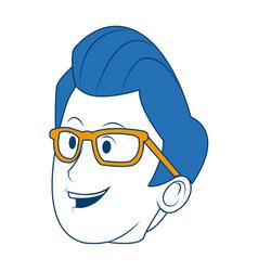 Cartoon portrait head man male character vector