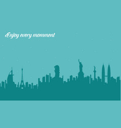 City tour to travel concept vector