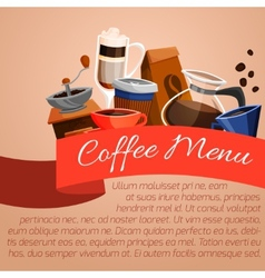 Coffee menu poster vector