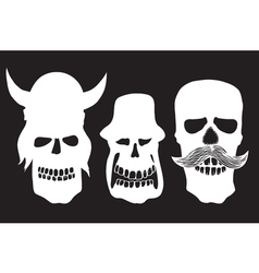 Collection of skulls vector