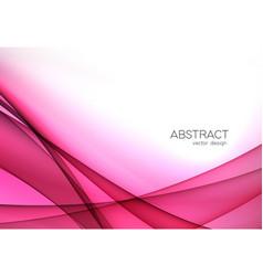 Color abstract transparent wave design element vector
