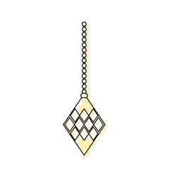 color gold diamond hanging to merry christmas vector image