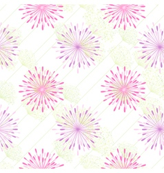 Colorful Flower Seamless Pattern vector