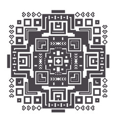 decorative geometric ethnic pattern ornament vector image