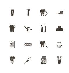 Dental - flat icons vector