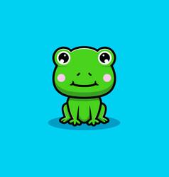 Design cute frog sitting vector