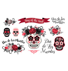 Dia de los muertos day of the dead design vector