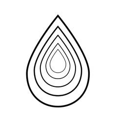 drop medical symbol icon vector image