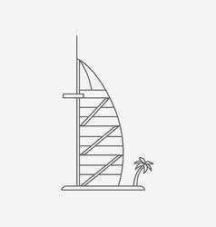 Dubaiburj al arab hotel vector