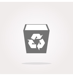 Eco recycle bin Icon eco recycle bin Icon vector