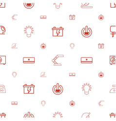 Electric icons pattern seamless white background vector