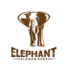 elephant logo design animal logo template icon vector image