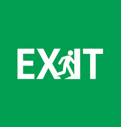 Emergency exit door sign vector