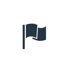 flag icon simple element for web and vector image