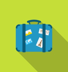 Flat modern icon of handle baggage with funky vector