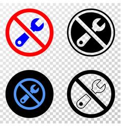 forbidden repair eps icon with contour vector image