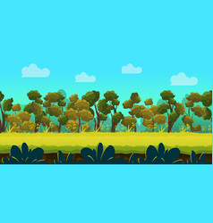 Forest 2d game landscape for games mobile vector