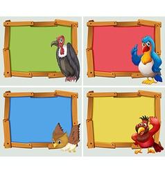 Frame design and wild birds vector