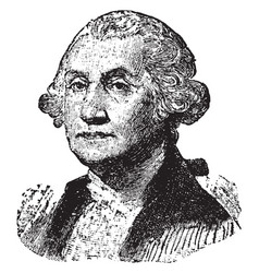 George washington vintage vector