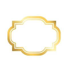 Gold frame simple golden design vector