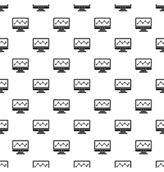 Graph in computer screen pattern simple style vector