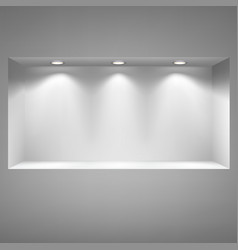 Gray niche for presentations vector image
