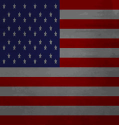 Grunge messy flag usa america vector