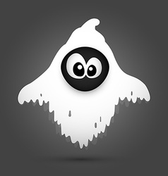 Halloween ghost cartoon vector