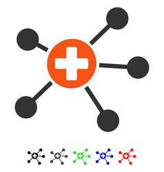 Health care links flat icon vector