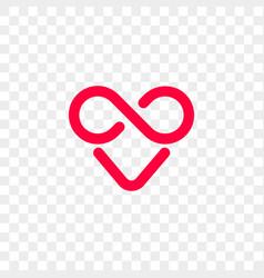 Heart logo infinity loop icon vector