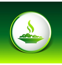 Hot meal cup steamy bowl food court logo vector image