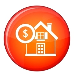 House and dollar sign icon flat style vector image