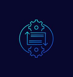 Integration concept linear icon vector