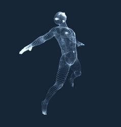 Jumping man 3d model of man human body model vector