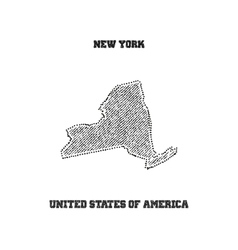 Label with map of new york vector