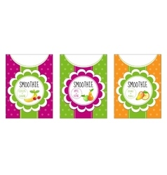 Labels set smoothies vector image