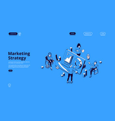 landing page for marketing strategy vector image