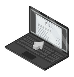 laptop bill icon isometric style vector image