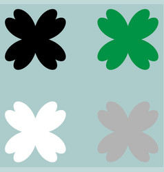 Leaf clover fourfoil icon vector