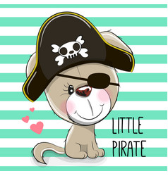 little puppy pirate vector image