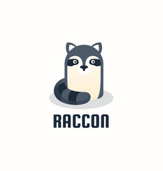 Logo raccoon gradient colorful style vector