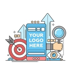 Marketing - flat design with vector image