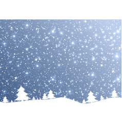 merry christmas of the nature snow falling from vector image